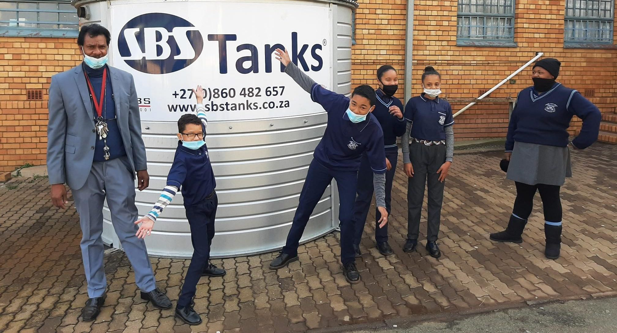 A water storage tank for Bernard Isaacs Primary brings water to learners